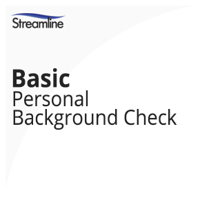 Basic Personal Background Check Streamline Investigations